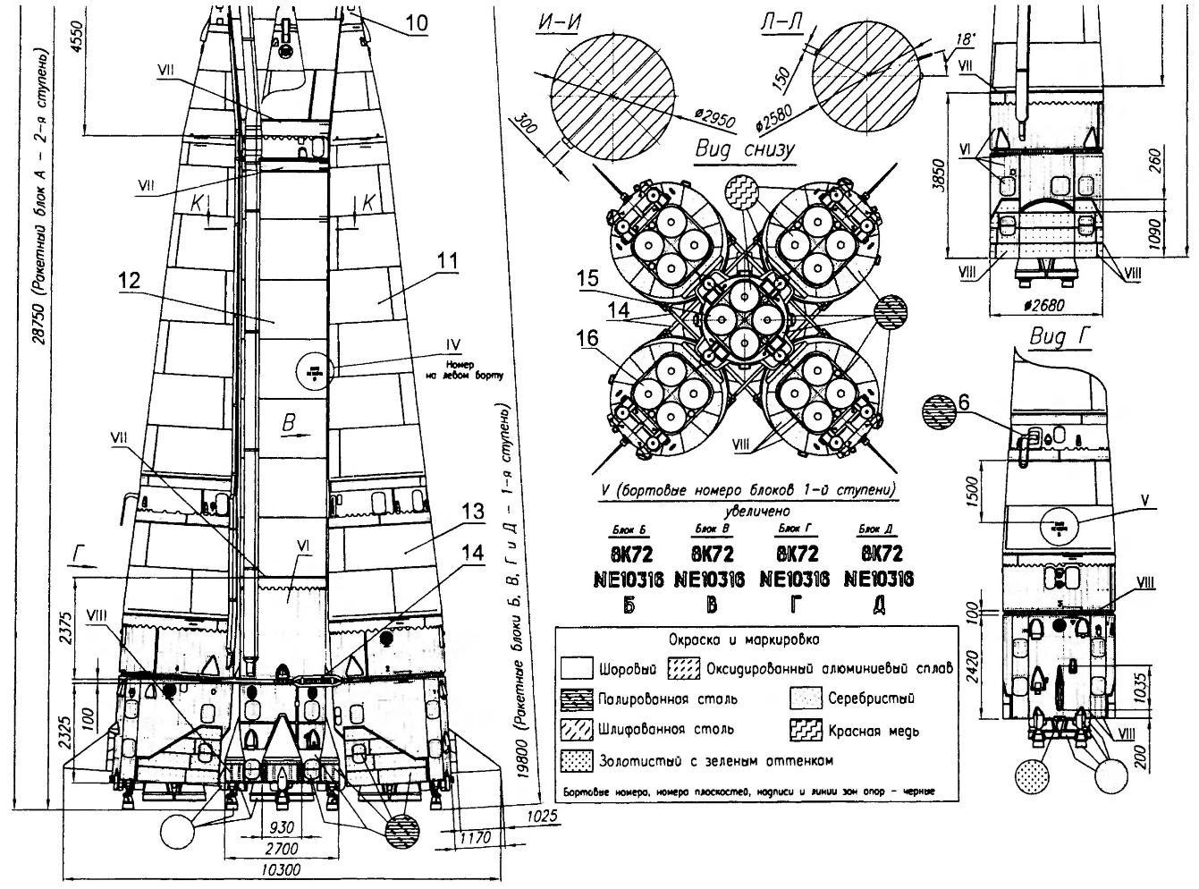 Рис.3. Ракета-носитель с космическим кораблем «Восток-1»