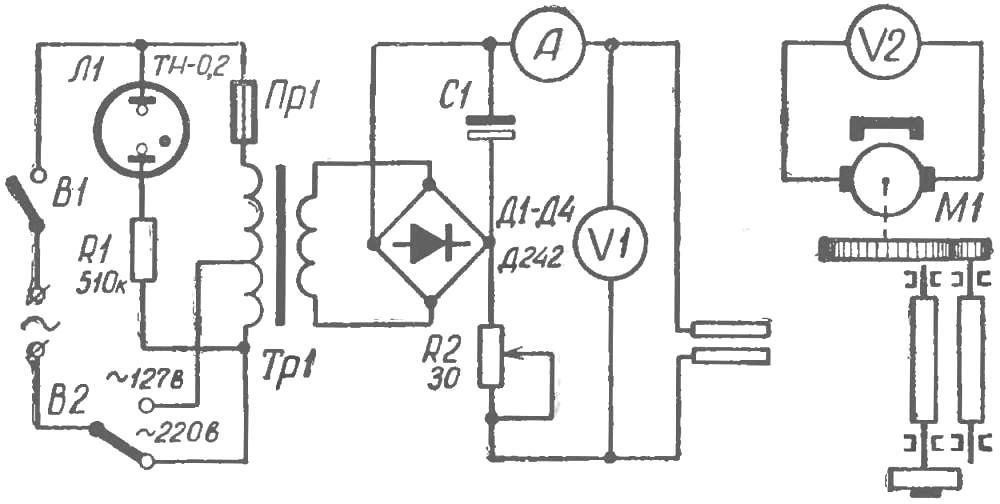 Рис. 2. Электрокинематическая схема.