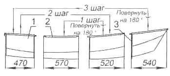 Рис. 12. Схема укладки секций для транспортировки и хранения