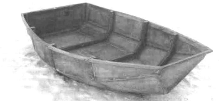Готовый корпус секционной лодки «Джек пот»