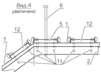 Рис. 5. Сборка секции (соединение шпангоутом с обшивкой; а, б, в, г - последовательность операций)