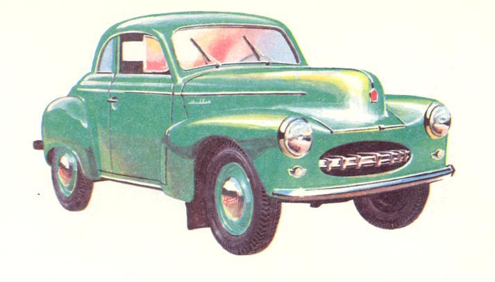 Опытный экземпляр автомобиля «Москвич-400/424» с кузовом «купе»