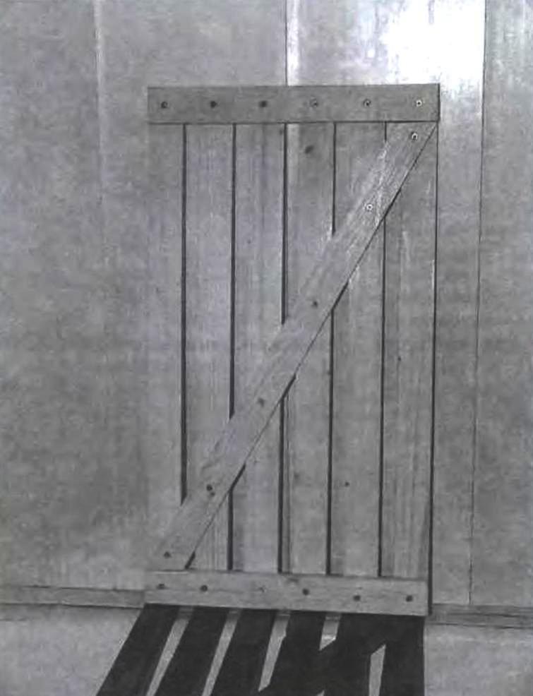 Вид решетки со стороны диагональной рейки