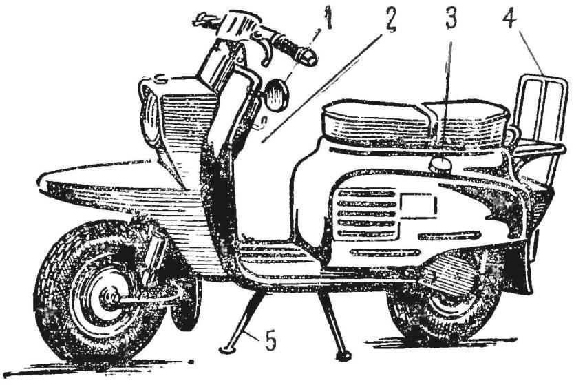 Рис. 1. Предлагаемые усовершенствования мотороллера «Вятка»