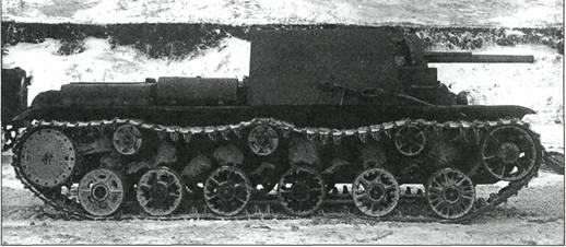 Танк КВ-7 (1-й вариант) с тремя пушками. Масса танка - 47,5 т, мощность двигателя - 600 л.с., экипаж - 6 человек