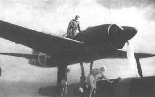 Гидроистребитель N1K1 на боевой позиции