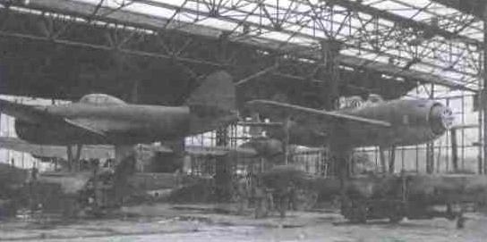 N1K1 на авиабазе Сасебо. Послевоенный снимок. По условиям капитуляции с самолётов сняты винты