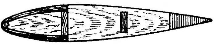 Рис. 5. Применение бальзы в конструкции крыла