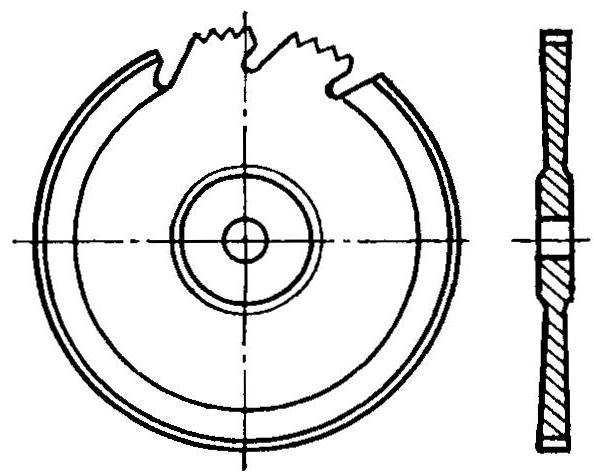 Рис. 6. Диск для обработки бальзовых пластин