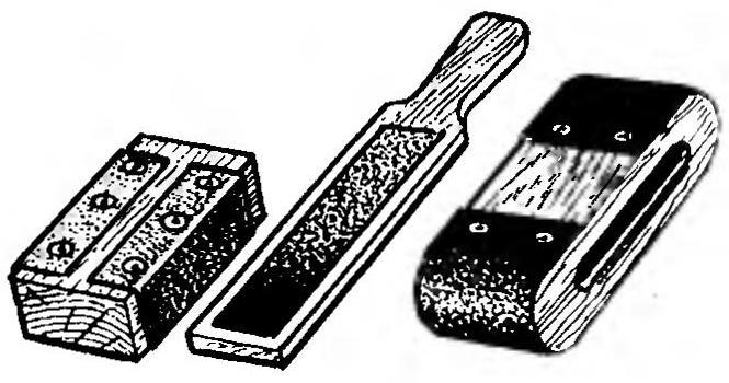 Рис. 7. Приспособления с наждачной бумагой