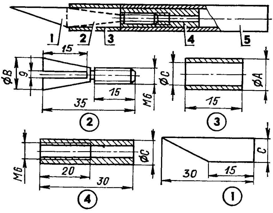 Рис. 9. Универсальный нож авиамоделиста