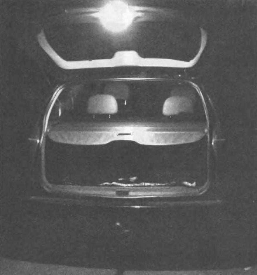 Дополнительный осветительный плафон в задней двери багажника