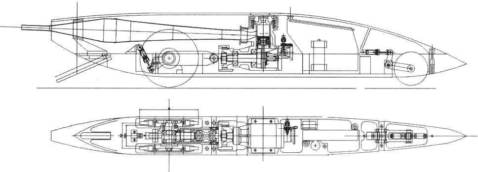 Сборочный чертеж кордовой модели (модель WMCR 3,5 см3)