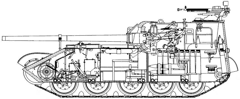 Продольный разрез СУ-101