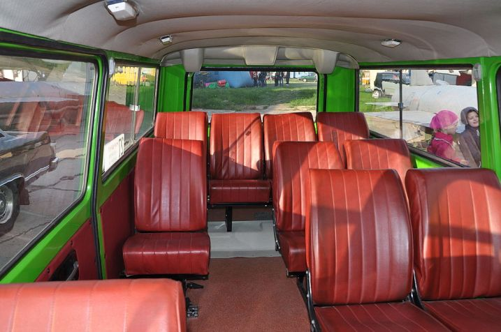 Планировка автобуса (туристский вариант)