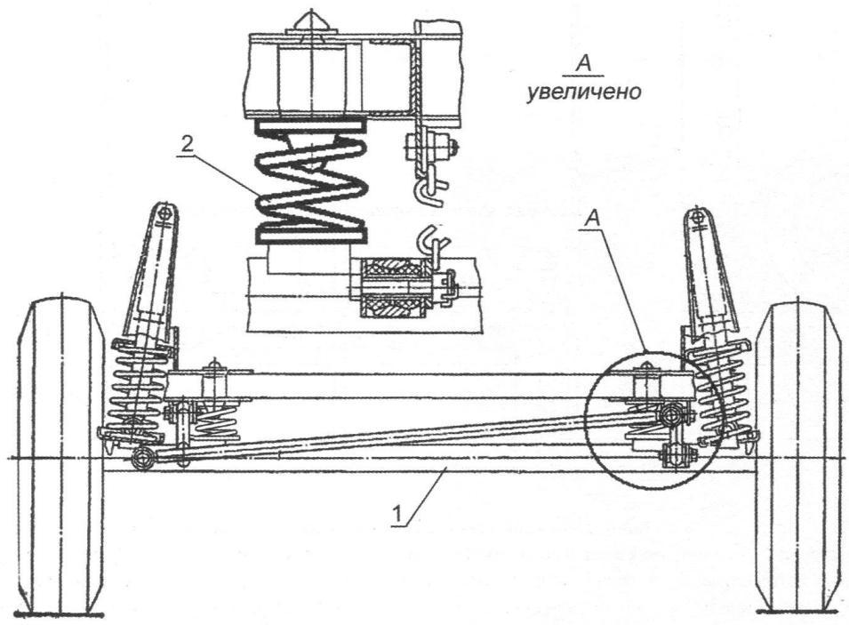 Усиление подвески ходовой части дополнительными пружинами от автомобиля «Ока»