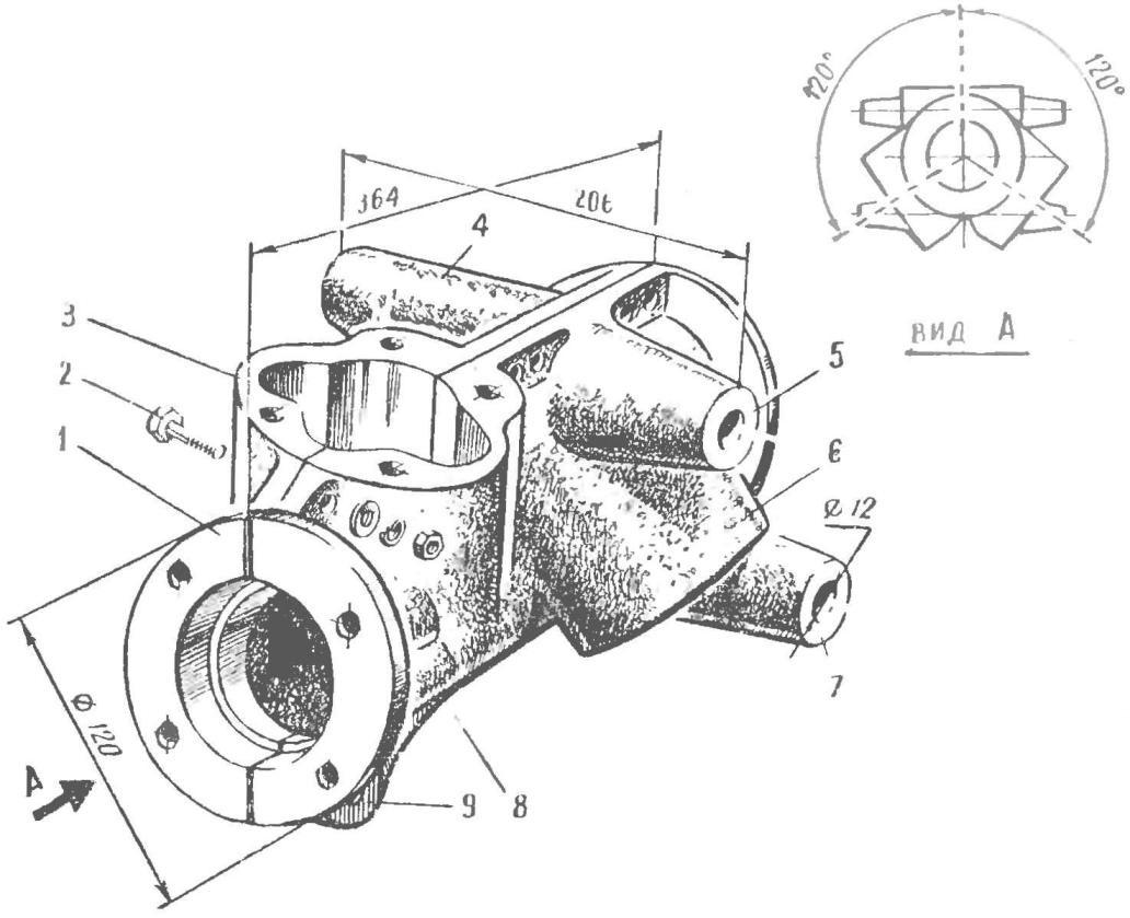 Рис. 3. Картер двигателя