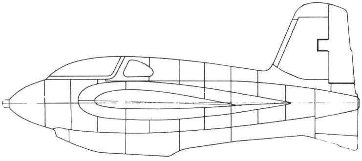 Схема раскроя обшивки фюзеляжа и киля
