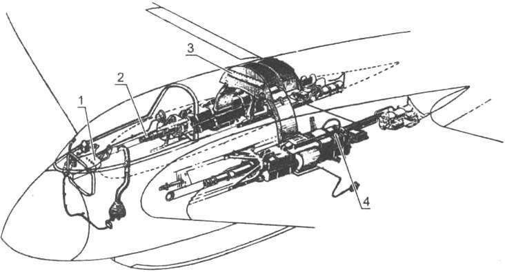 Схема размещения вооружении на самолете Ме-163В