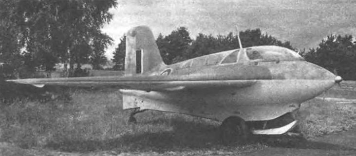 Трофейный Ме-163В с английскими опознавательными знаками