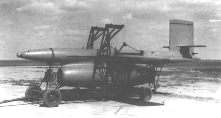 Ла-17 на транспортной тележке