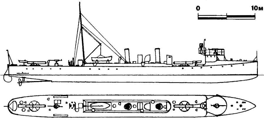 214. Миноносец Tb-1, Австро-Венгрия, 1910 г.