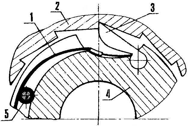 Рис.7. Схема установки сборной пружины