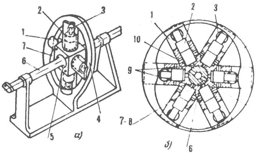 Рис. 2. Схематический разрез двигателя Меркера