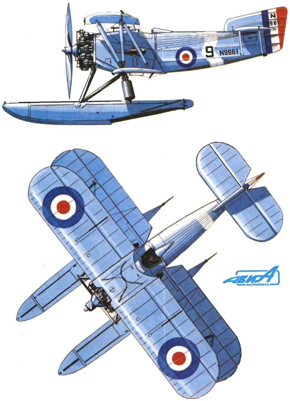 Fairey Flycatcher, 1928 год (авианосец «Гермес»).