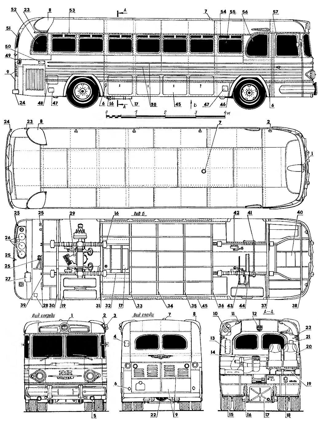 Междугородный автобус ЗиЛ-127