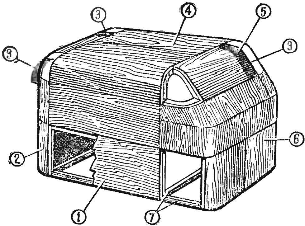 Рис. 2. Конструкция болвана для выклейки кузова