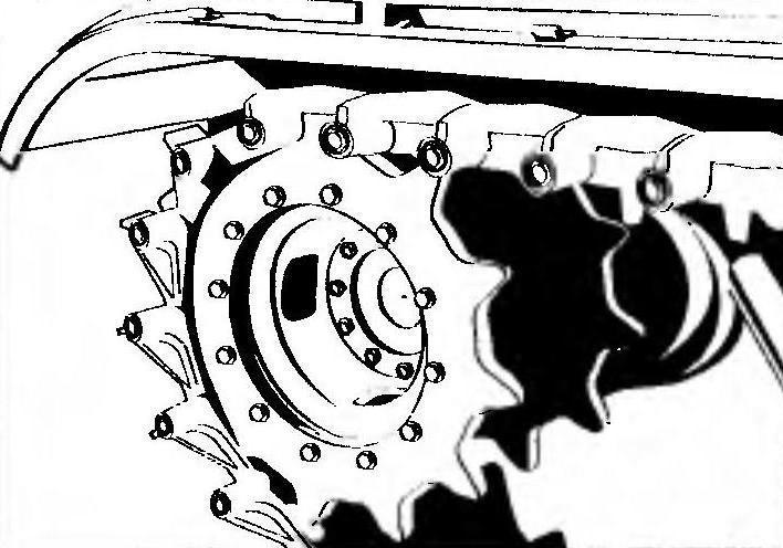 Ведущее колесо.