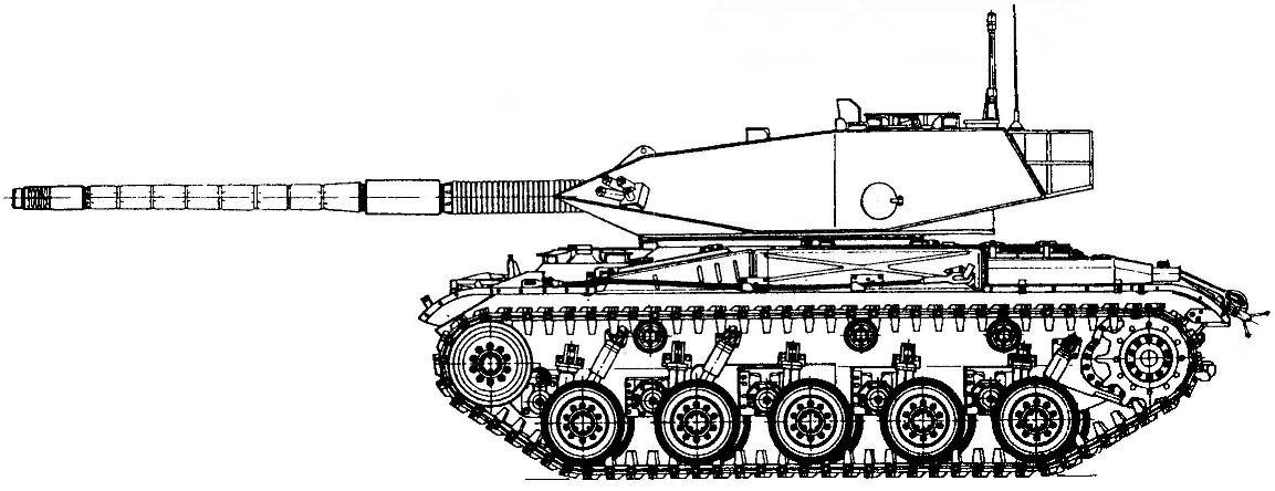 Танк М41 с башней и вооружением, позаимствованными от легкого танка «Стингрей».