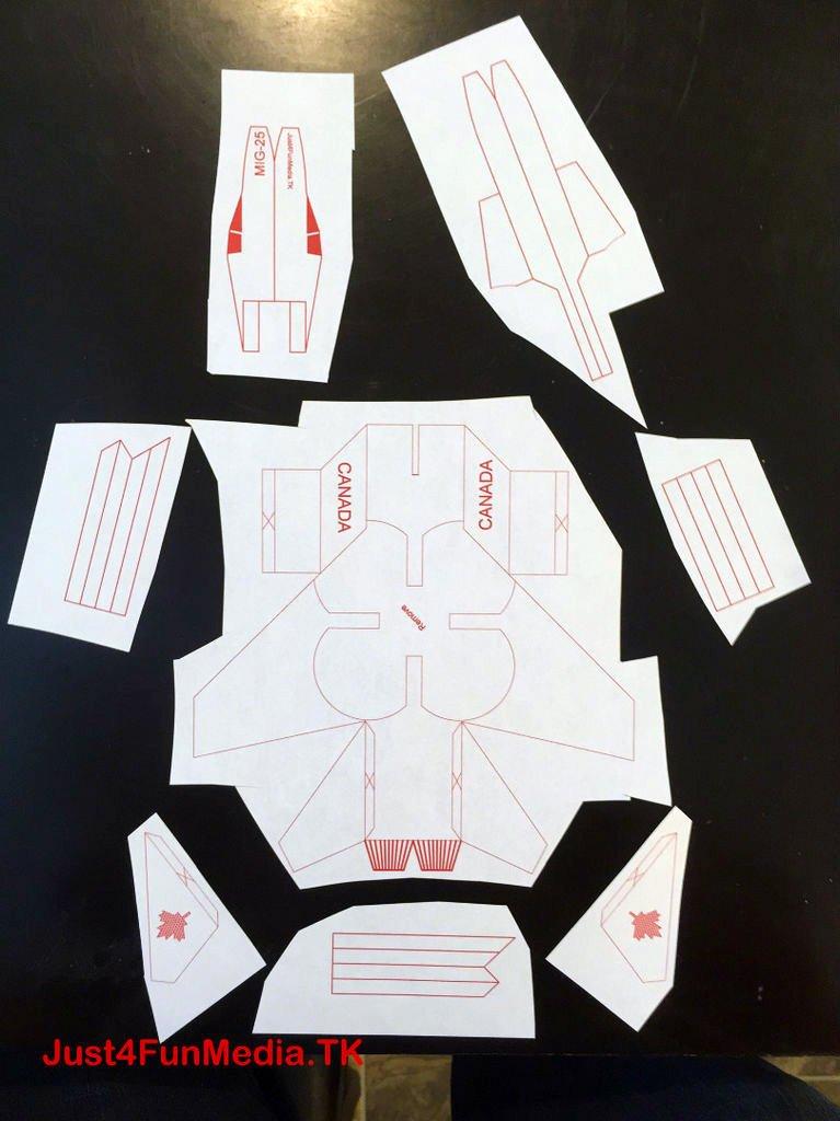 Шаг 1: Распечатываем, вырезаем, складываем