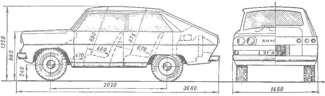 Рис. 1. Автомобиль «Комета-2».