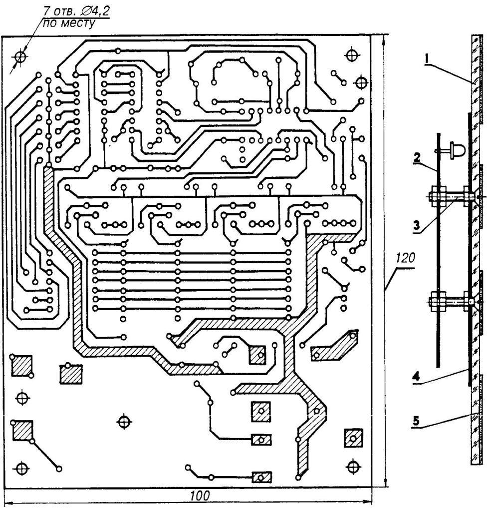 Передняя панель табло