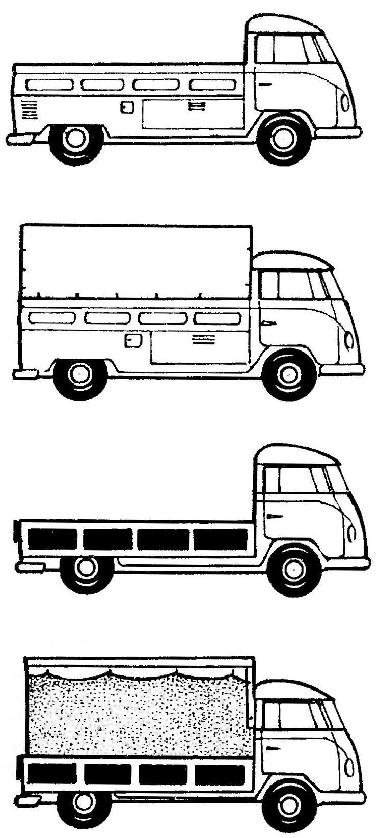 VOLKSWAGEN TRANSPORTER в грузовых модификациях.