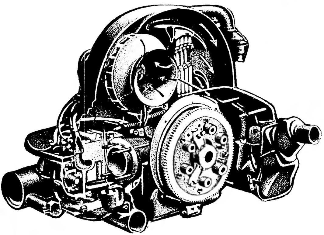 Двигатель автомобиля VOLKSWAGEN TRANSPORTER.