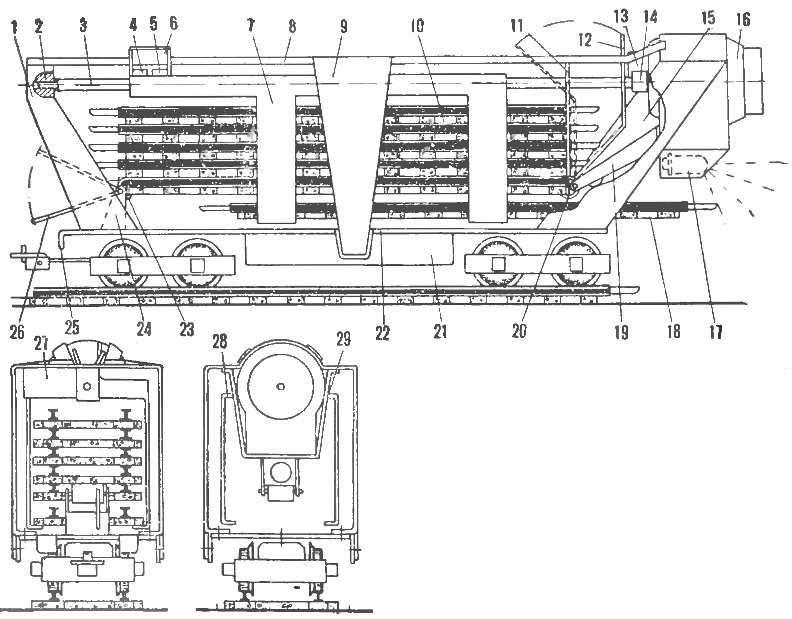 Рис. 1. Модель путеукладчика
