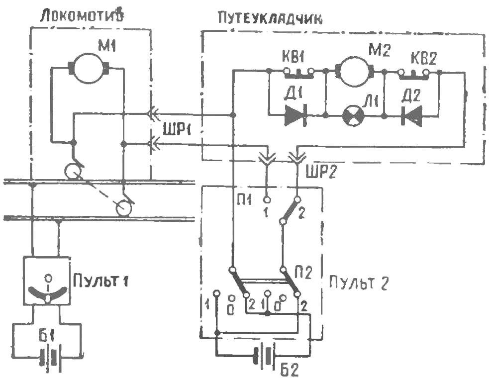 Рис. 2. Электросхема управления путеукладчиком
