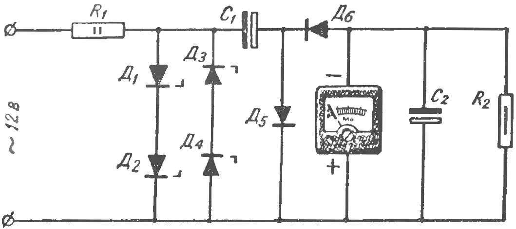 Рис. 6. Принципиальная схема электротахометра