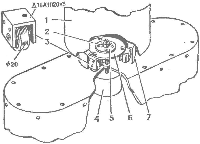 Рис. 2. Механизм вращения головы