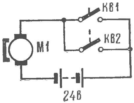 Рис.4. Включение электродвигателя кассы.
