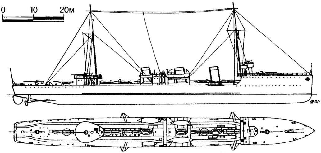 184. Эскадренный миноносец «Дерзкий», России, 1914 г.
