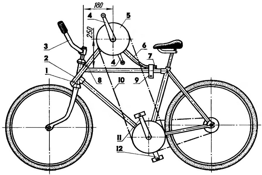 Велосипед с дополнительной кареткой