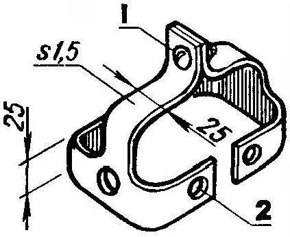 Скоба, заменяющая туклнпс на педали