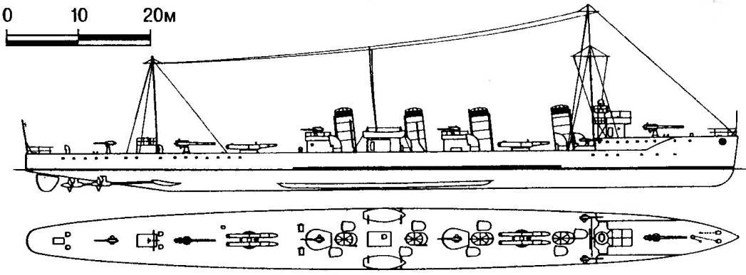 179. Эскадренный миноносец «Умикадзе», Япония, 1911 г.