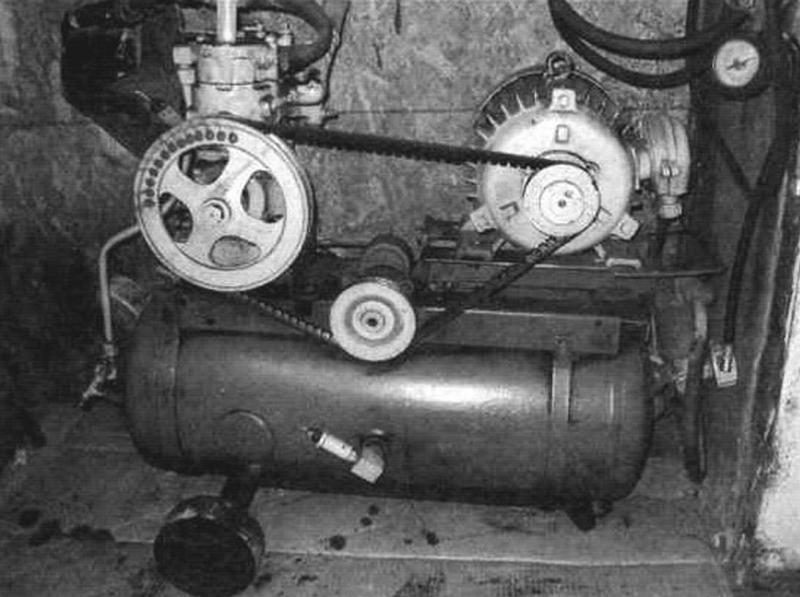 Вид компрессора со стороны привода