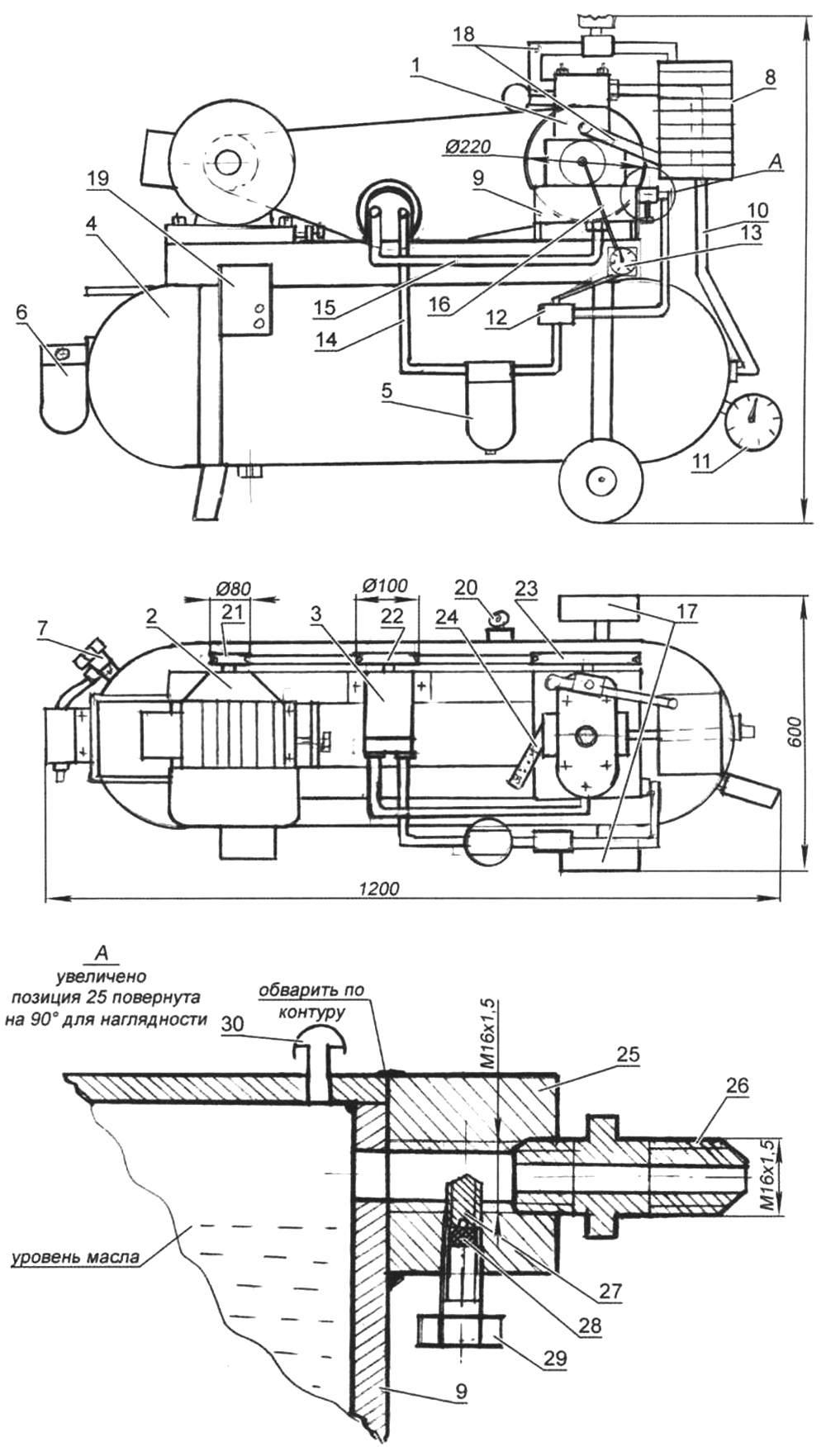 Компрессорная поршневая электрическая установка
