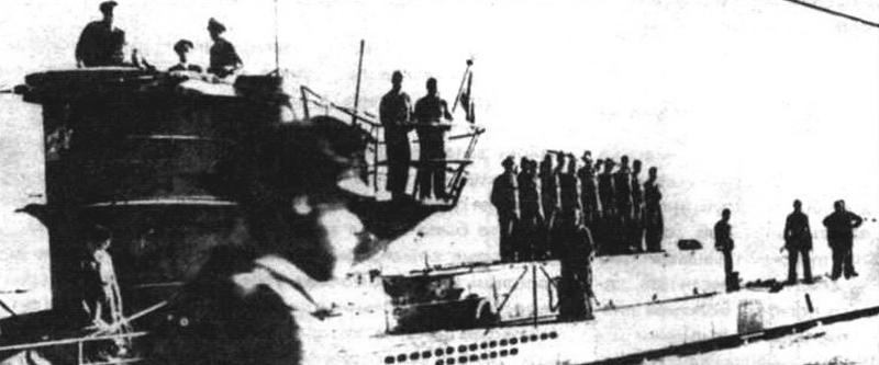 Минзаг «U-213»: видна встроенная секция с минными шахтами
